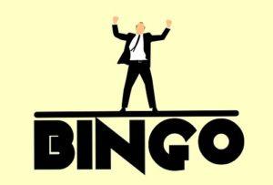 bingo sign with man